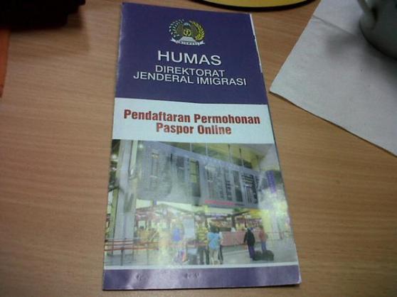 Brosur Pendaftaran Permohonan Paspor Online